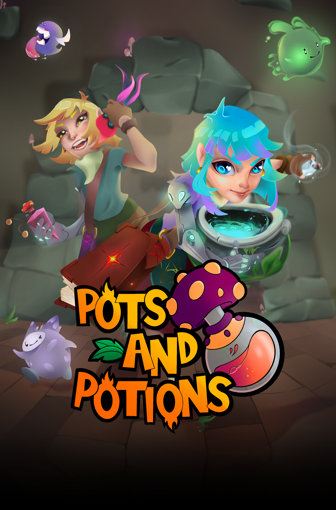 Pots and Potions video game poster cover